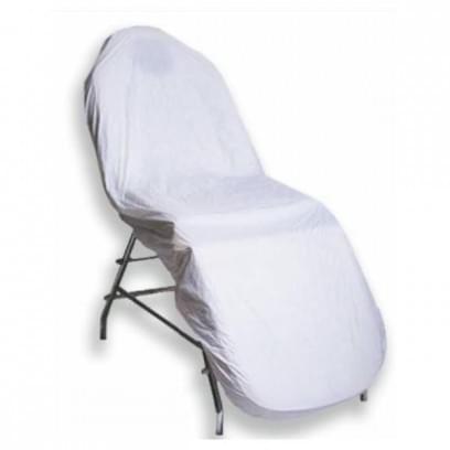 Чехол на кушетку на резинке многоразовый, ПВХ, 90х200 см, белый